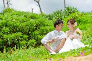 沖縄フォトウェディングは海だけじゃない!グリーンフォトも人気です♪