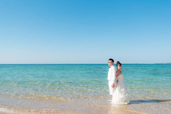 沖縄の海は透明度抜群