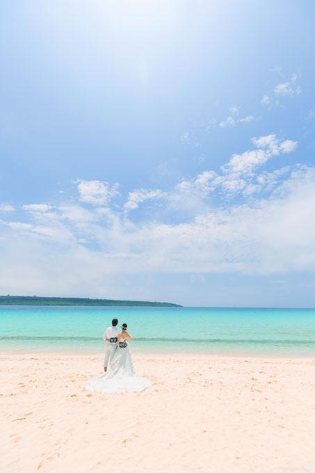 宮古島の空と海に祝福されるフォトウェディング
