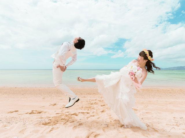 花嫁の楽しいトリックフォト