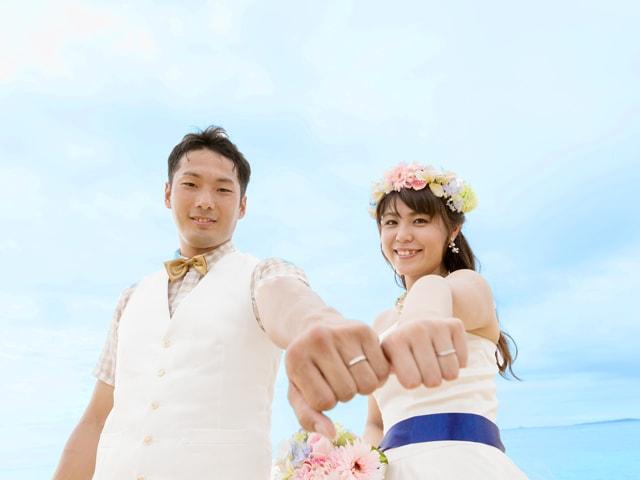 結婚指輪が主役の1枚