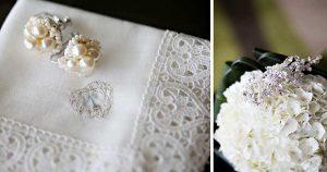 イヤリング、ヘッドドレス、花嫁ハンカチ