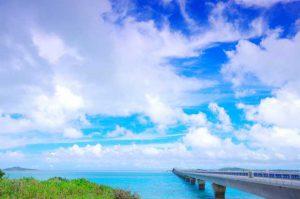離島と繋がる橋とのコラボが美しい宮古島