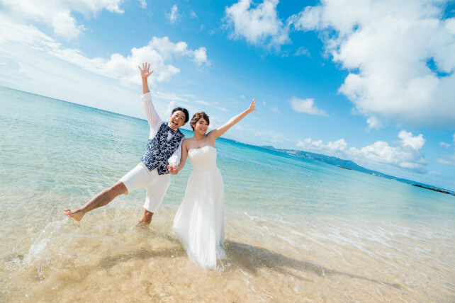 恩納村 WEB限定Trash The Dress 海灘婚紗攝影方案  Simple