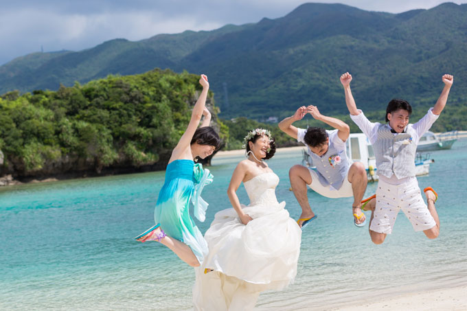 沖縄のフォトウェディングを家族で叶えよう