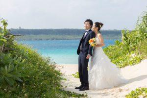 宮古島与那覇前浜ビーチの美しい海の色が望めるグリーンフォト