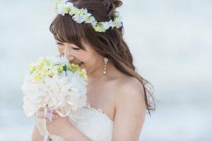 ダウンヘア花冠