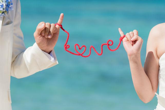 赤い糸『LOVE』(沖縄本島)