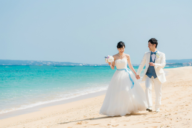 期間限定アルバム付沖縄本島ビーチフォト ウェディングプラン