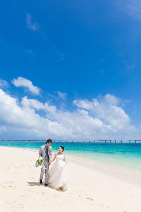 与那覇前浜ビーチの美しさはどの角度でも変わらない