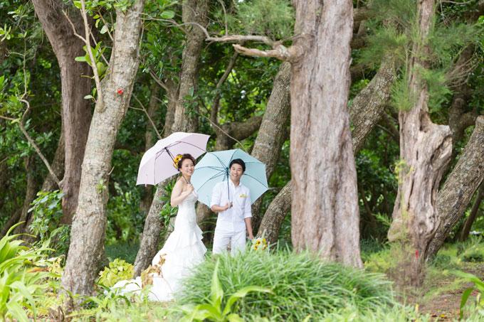 石垣島の森でで前撮り&フォトウェディング。実は底地ビーチのすぐ隣