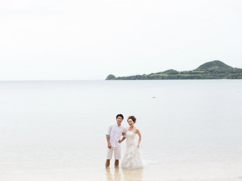 海をバックにで前撮り&フォトウェディング。ふたりのいつか帰って来たい場所に