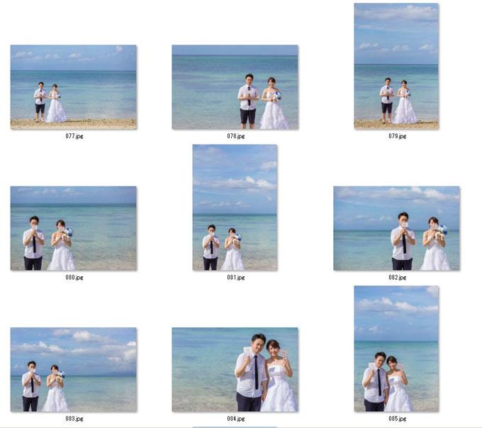 データセットプランの写真は同じようなカットがたくさんあります