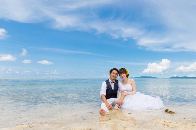 石垣島、タバガービーチの穏やかな渚で波音を聞きながら過ごす贅沢なフォトウェディング