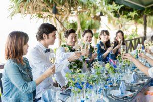 沖縄フォトウェディング|会食付き・トラッシュザドレスウェディングプラン