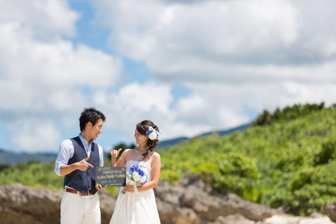 石垣島のビーチで海側から撮影するとビーチとは思えない1枚に