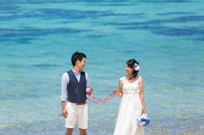 色鮮やかな石垣島の海の青を、贅沢に背景にしたフォトウェディング!