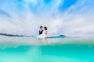 水中カメラを使って、まるで海の中にいるような写真