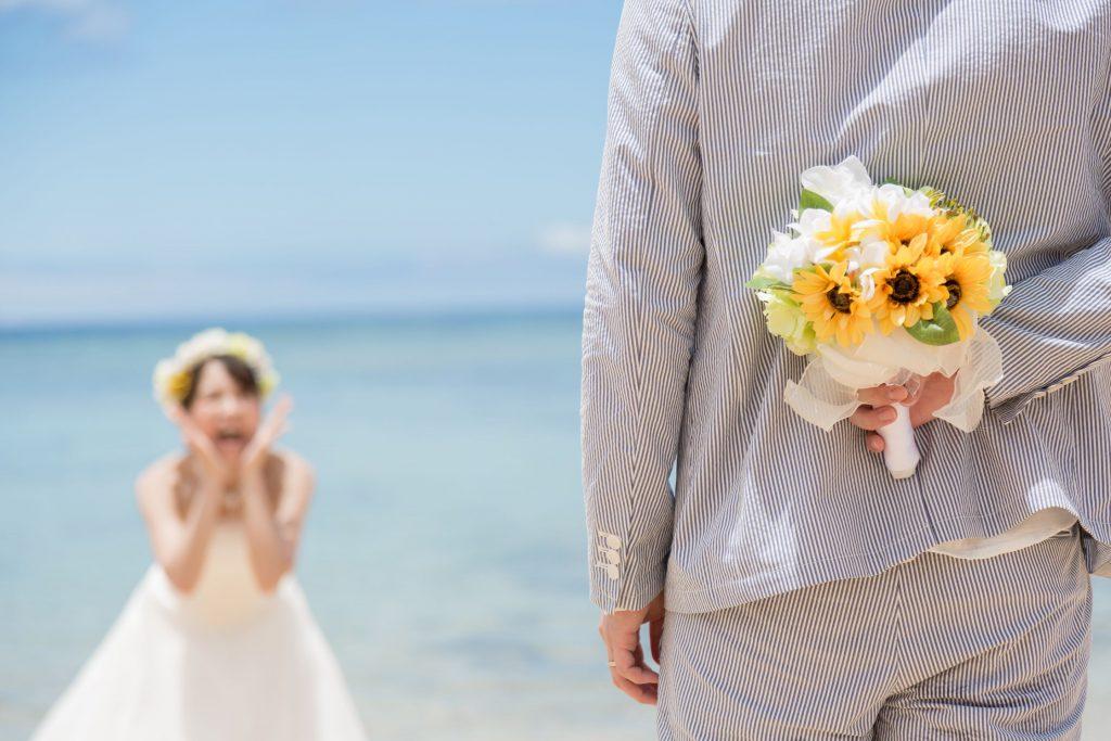 沖縄フォトウェディング プロポーズ