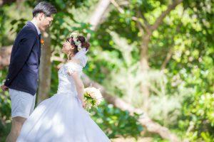 石垣島ビーチフォト 語りかけるポーズ