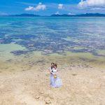 石垣島ビーチフォト サンゴ礁の見える遠浅のビーチで