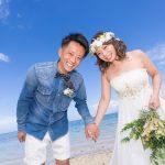 石垣島ビーチフォト 最高の笑顔で