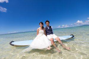 石垣島ビーチフォトウェディング 透明度が高いビーチ
