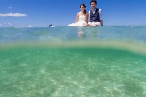 石垣島トラッシュザドレス 水中も透明度が高い