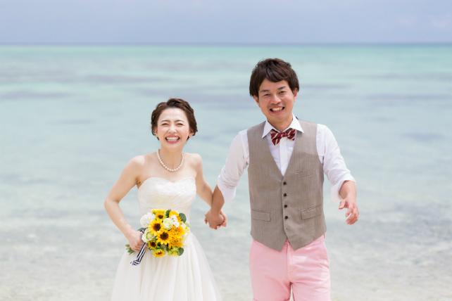 石垣島タガバービーチでフォトウェディング♪