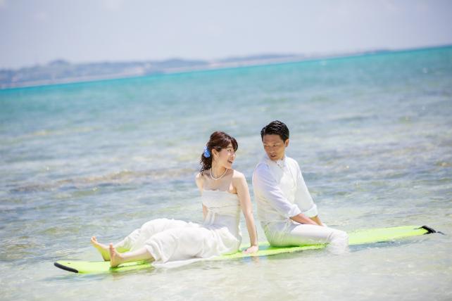 海上で見つめ合う二人♪