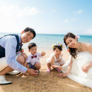 ファミリーフォト 沖縄ビーチ