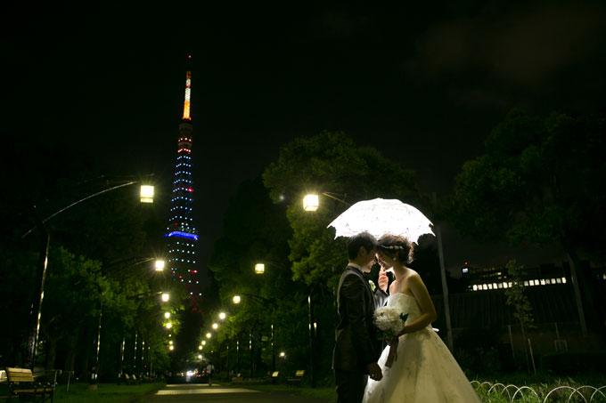東京タワーナイトフォトウェディング