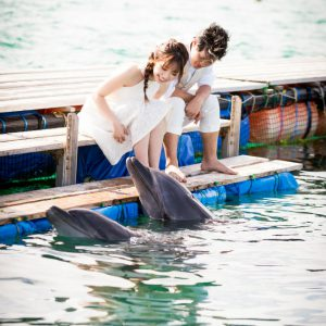 イルカのキスショット石垣島フォトウェディング