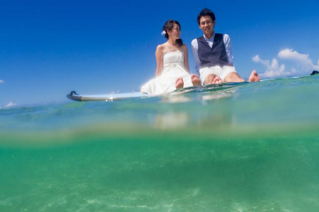 透明度の高い海だからこそできる水中カメラショット