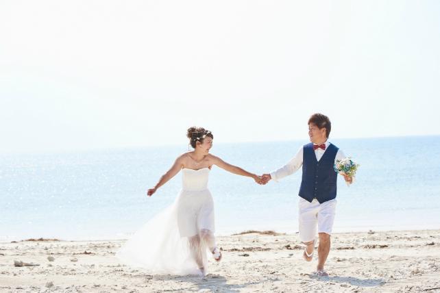 沖縄ロケーションフォト トラッシュザドレス ライトプラン