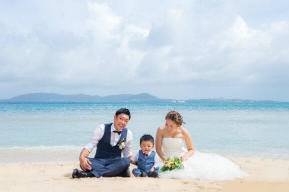 沖縄的親子婚紗攝影方案