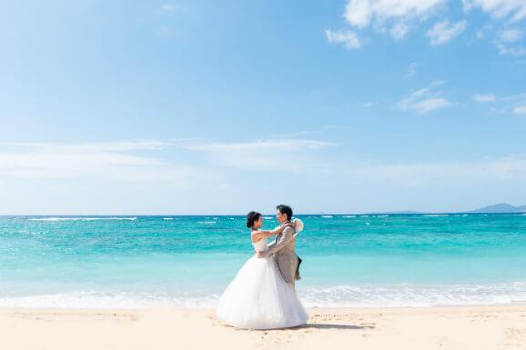 沖縄本島海海灘婚紗攝影方案