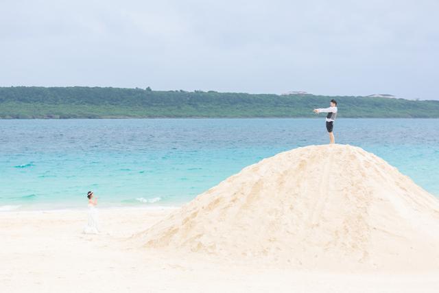 宮古島の与那覇前浜ビーチでビーチの地形を生かしたオリジナルショット
