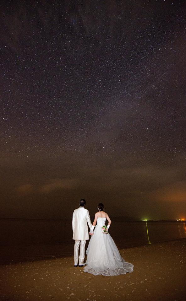 星空ウェディングフォト|沖縄ウェディングオンライン