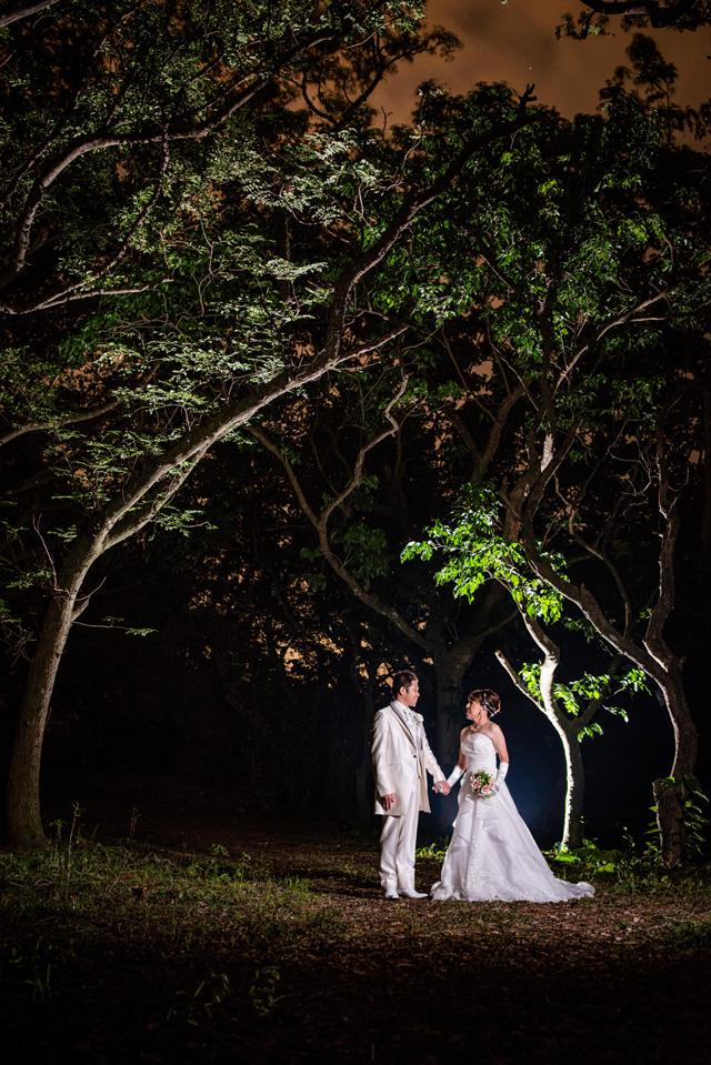 夜景ウェディングフォト|沖縄ウェディングオンライン