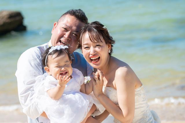 石垣島ファミリービーチフォトウェディング|沖縄ウェディングオンライン