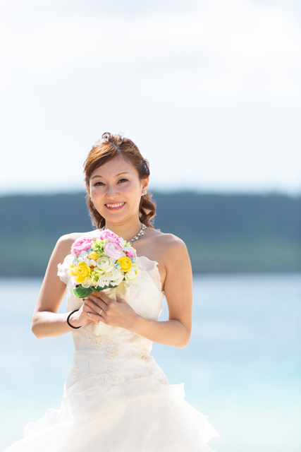 沖縄ビーチフォト「ブーケ」|沖縄ウェディングオンライン