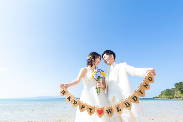 人気ランキング第3位石垣島ビーチフォトウェディング 沖縄ウェディングオンライン