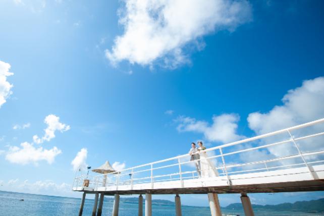 石垣島・フサキビーチでのビーチフォトウェディング 沖縄ウェディングオンライン