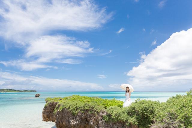 沖縄新婚旅行 池間島でのフォトウェディング 沖縄ウェディングオンライン