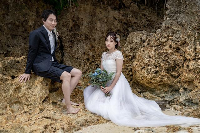 琉球石灰岩バックフォト